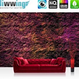 "Vlies Fototapete ""no. 2511"" | Texturen Tapete Stein Steinwand Steinoptik Farben Muster lila | liwwing (R)"