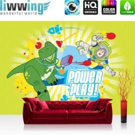 "Vlies Fototapete ""no. 2514"" | Cartoon Tapete Disney Toy Story Kindertapete Buzz Lightyear Dinosaurier TRex bunt | liwwing (R)"