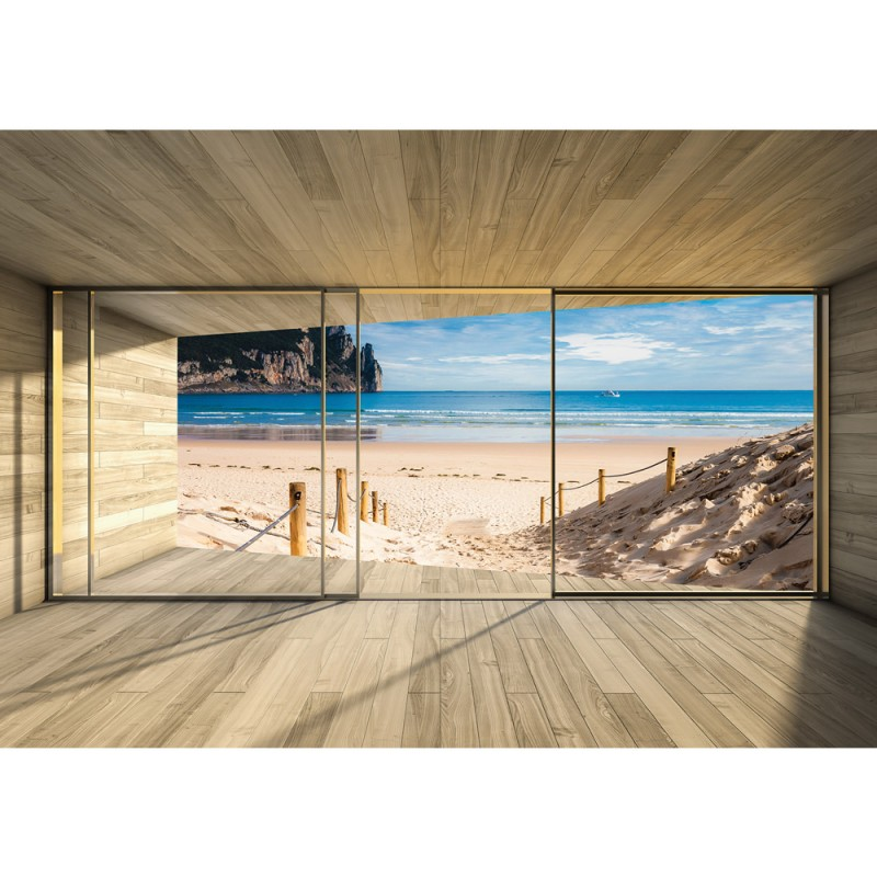 Perfekt Cheap Holz Tapete Holzoptik Rahmen Fenster Meer Strand Himmel With Tapeten  In Holzoptik