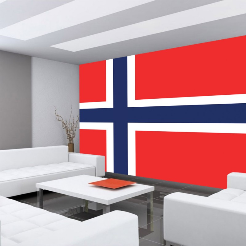 vlies fototapete no 2569 vliestapete liwwing r geographie tapete norwegen flagge. Black Bedroom Furniture Sets. Home Design Ideas