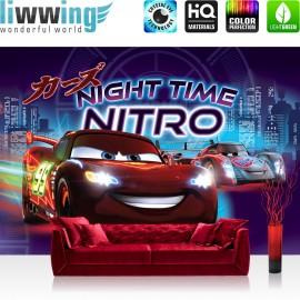 "Vlies Fototapete ""no. 2585"" | Cartoon Tapete Disney Cars Disney Cars Kindertapete Lightning McQueen Nitro lila | liwwing (R)"