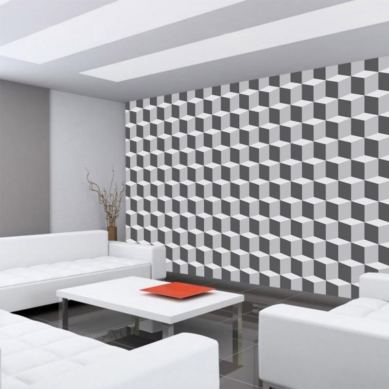 2594 texturen tapete wrfel muster kunst abstrakt grau - Vliestapete Muster