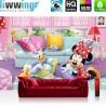 "Vlies Fototapete ""no. 2599"" | Mädchen Tapete Disney Micky Maus Disney Minnie & Me Kindertapete Daisy pink | liwwing (R)"