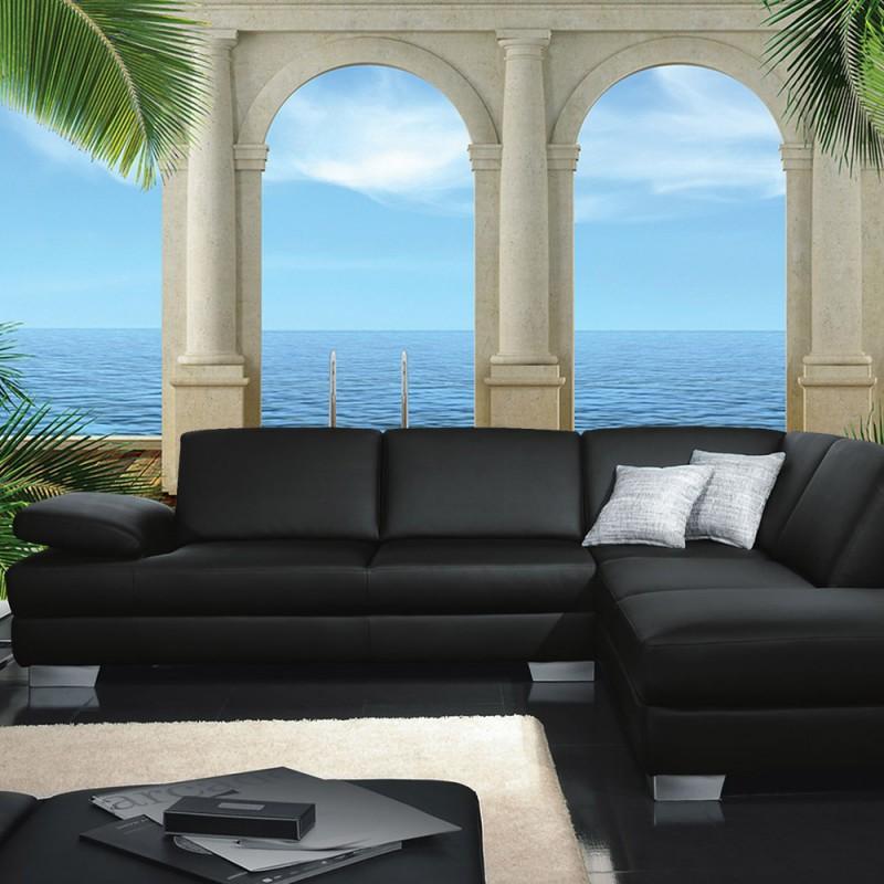 vlies fototapete no 2607 vliestapete liwwing r wellness tapete meer palmen horizont s ulen. Black Bedroom Furniture Sets. Home Design Ideas