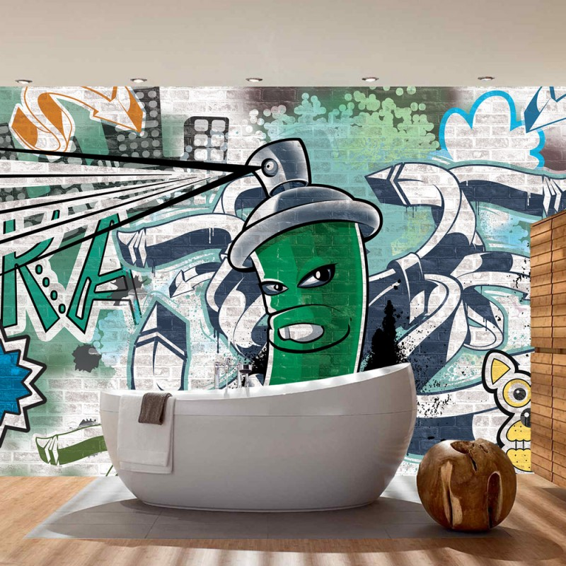 vlies fototapete no 2621 vliestapete liwwing r graffiti tapete steinwand steinoptik. Black Bedroom Furniture Sets. Home Design Ideas