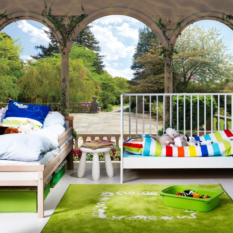 vlies fototapete no 2629 vliestapete liwwing r landschaft tapete garten b ume blumen s ulen. Black Bedroom Furniture Sets. Home Design Ideas