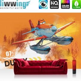 "Vlies Fototapete ""no. 2640"" | Cartoon Tapete Disney Planes Kindetapete Flugzeug Dusty orange | liwwing (R)"