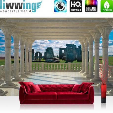 "Vlies Fototapete ""no. 2665"" | Landschaft Tapete Stonehenge Steine Marmor Säulen ocker | liwwing (R)"