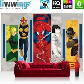 "Vlies Fototapete ""no. 2729"" | Jungen Tapete Marvel SPIDERMAN Spiderman Illustration Cartoon bunt | liwwing (R)"