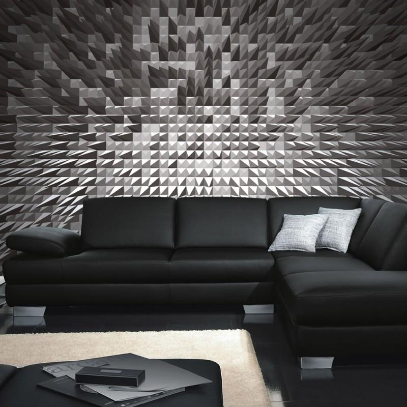 vlies fototapete no 2764 vliestapete liwwing r 3d tapete spitzen 3d illustration schwarz wei. Black Bedroom Furniture Sets. Home Design Ideas
