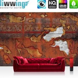 "Vlies Fototapete ""no. 2786"" | Texturen Tapete Muster Texturen Holz Farbe Zeichen braun | liwwing (R)"
