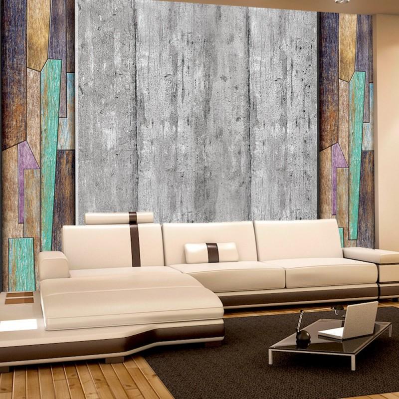 vlies fototapete no 2787 vliestapete liwwing r holz tapete muster holz kunst holzwand grau. Black Bedroom Furniture Sets. Home Design Ideas