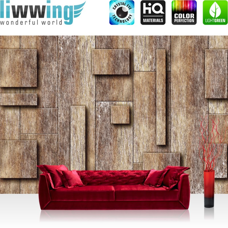 vlies fototapete no 2790 holz tapete holzmuster 3d. Black Bedroom Furniture Sets. Home Design Ideas