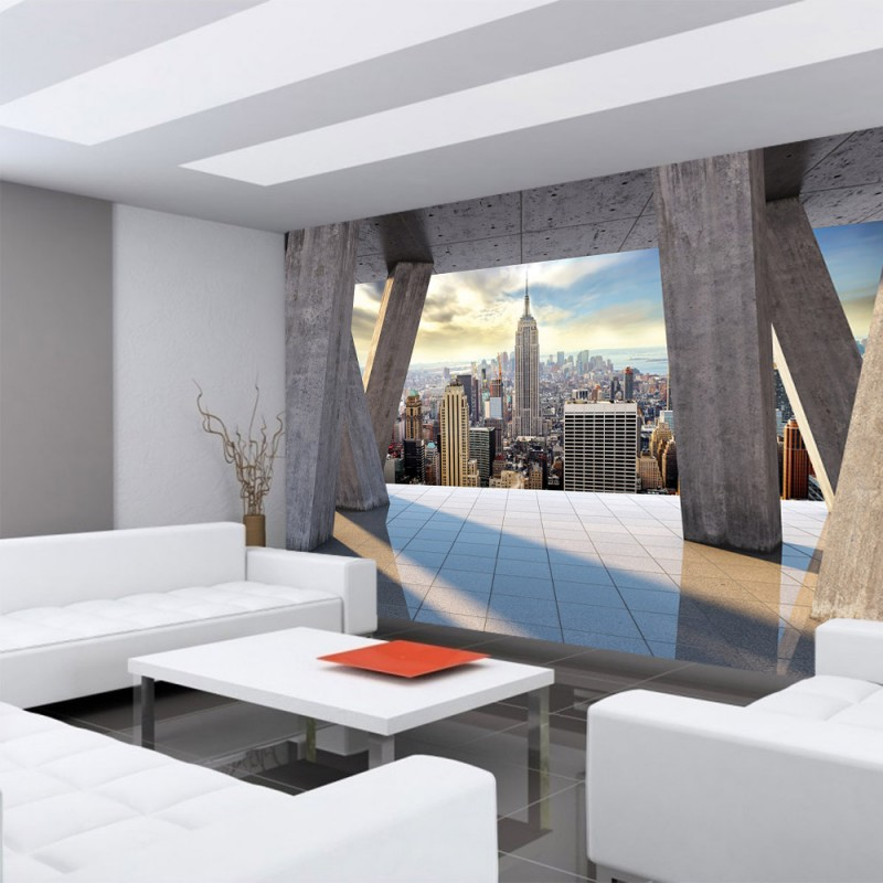vlies fototapete no 2816 vliestapete liwwing r new With balkon teppich mit tapete new york skyline