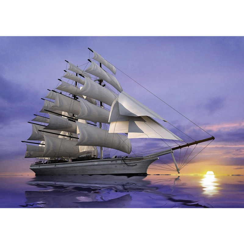 Segelschiffe auf dem meer sonnenuntergang  Vlies Fototapete no. 2835 | Vliestapete liwwing (R) Wasser Tapete ...