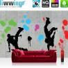"Vlies Fototapete ""no. 2849"" | Graffiti Tapete Steinwand Steinoptik Graffiti Breakdance Flecke grau | liwwing (R)"