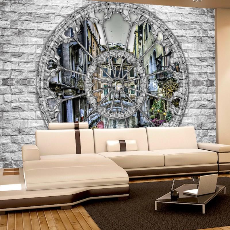 vlies fototapete no 2862 vliestapete liwwing r steinwand tapete steinoptik fenster venedig. Black Bedroom Furniture Sets. Home Design Ideas