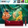 "Vlies Fototapete ""no. 2275"" | Disney Tapete König der Löwen Kindertapete Pumba Timon Nala Sarafina grün | liwwing (R)"