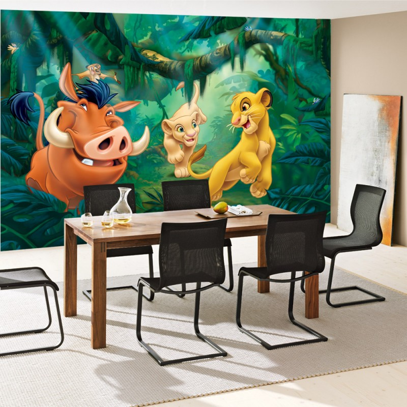 vlies fototapete no 2275 disney tapete k nig der l wen kindertapete pumba timon nala. Black Bedroom Furniture Sets. Home Design Ideas
