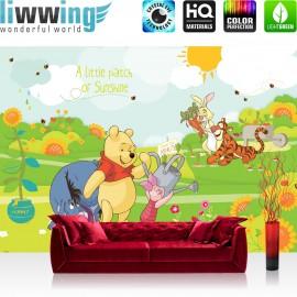 "Vlies Fototapete ""no. 2116"" | Cartoon Tapete Disney Winnie Puuh Ferkel Tiger IAah Rabbit Sonne Kindertapete bunt | liwwing (R)"