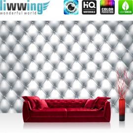 "Vlies Fototapete ""no. 3003"" | Texturen Tapete Kunst Design Rechtecke Punkte Muster grau | liwwing (R)"