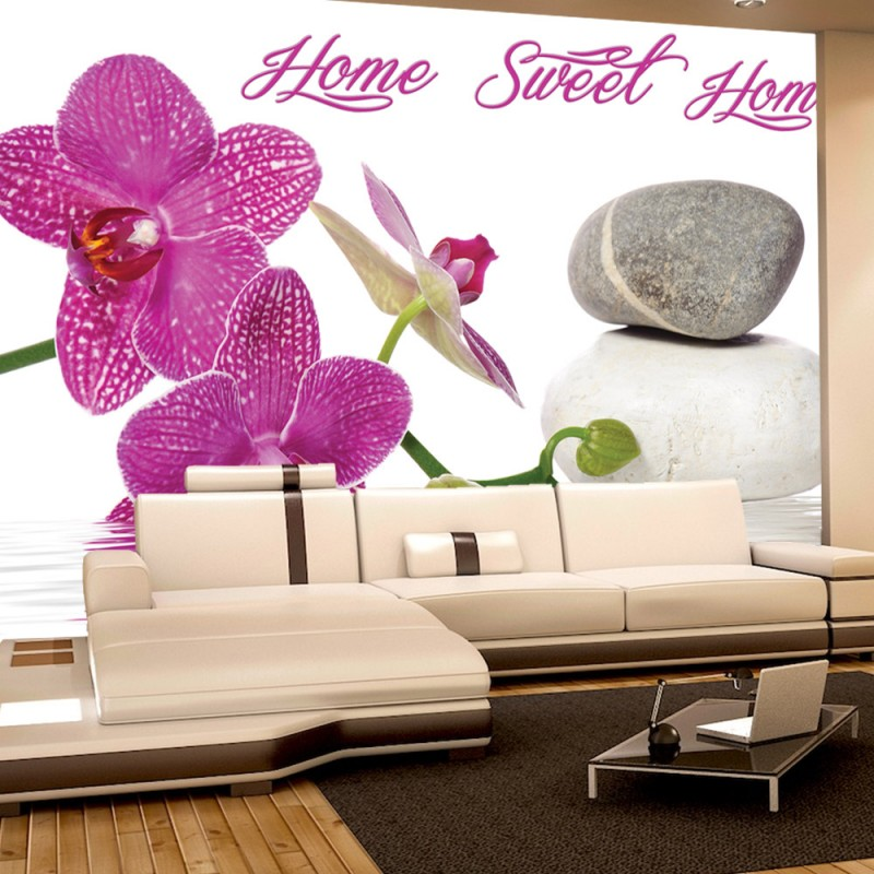 Wallpaper orchidee steine  Vlies Fototapete no. 3164 | Vliestapete liwwing (R) Wellness ...