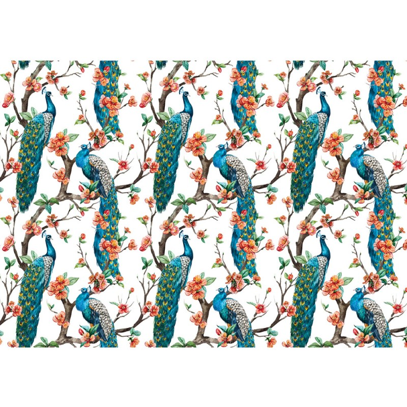 3035 tiere tapete pfau tiere kunst blumen blten ste - Tapete Muster