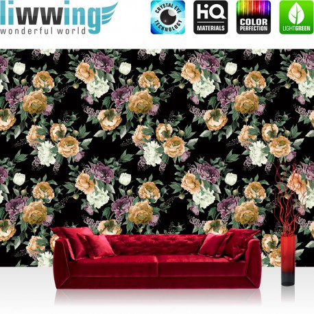 vlies fototapete no 3037 vliestapete liwwing r blumen. Black Bedroom Furniture Sets. Home Design Ideas