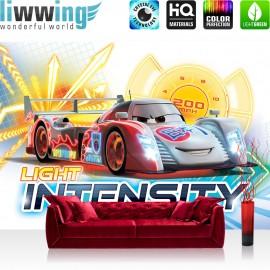 "Vlies Fototapete ""no. 3056"" | Cartoon Tapete Disney Cars Light Intensity Kindertapete Auto Gitter bunt | liwwing (R)"