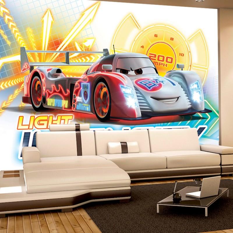 vlies fototapete no 3056 cartoon tapete disney cars. Black Bedroom Furniture Sets. Home Design Ideas