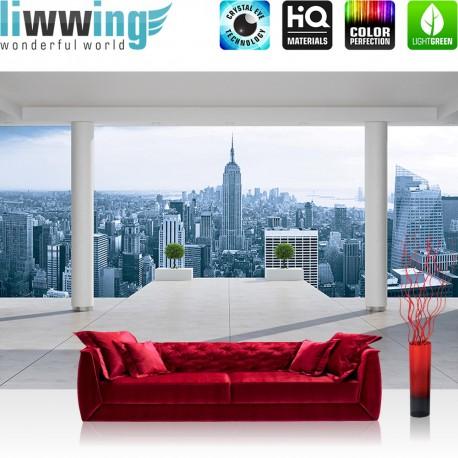 "Vlies Fototapete ""no. 3093"" | New York Tapete Manhattan Skyline Ausblick blau | liwwing (R)"