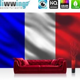 "Vlies Fototapete ""no. 3103"" | Frankreich Tapete Flagge Land Frankreich bunt | liwwing (R)"
