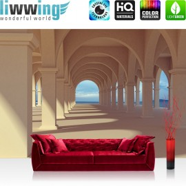 PREMIUM Fototapete - no. 69 | Romantic Arcade | Romantic 3D Perspektive Säulengang Arkade