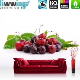 "Vlies Fototapete ""no. 3119"" | Speisen Tapete Obst Kirschen rot | liwwing (R)"