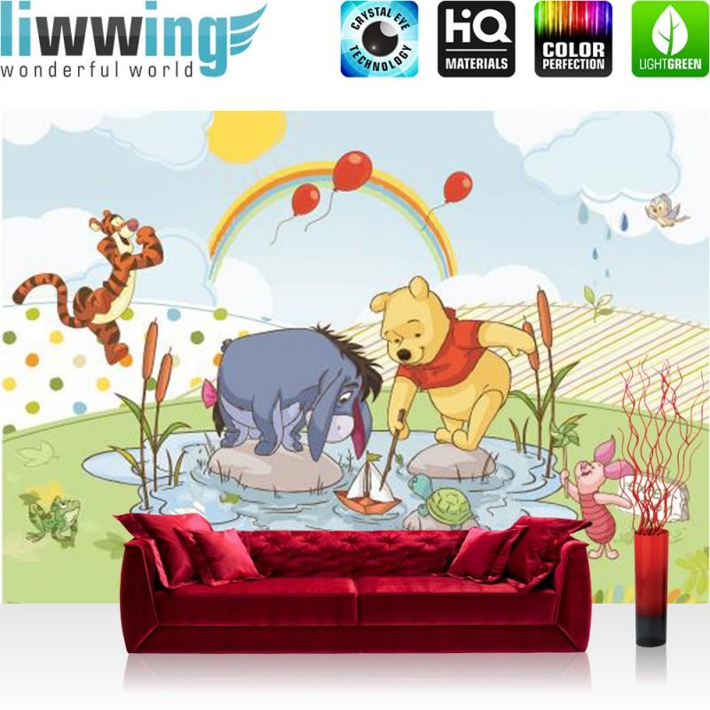 vlies fototapete no 3126 disney tapete winnie puuh iah tigger winnie pooh f ebay. Black Bedroom Furniture Sets. Home Design Ideas