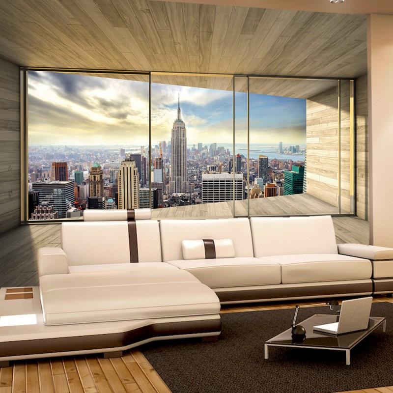 vlies fototapete no 3139 vliestapete liwwing r new york tapete raum holz skyline manhattan. Black Bedroom Furniture Sets. Home Design Ideas