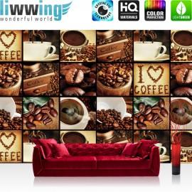 "Vlies Fototapete ""no. 3142"" | Kaffee Tapete Fotoreihe Kaffee Bohnen Trinken braun | liwwing (R)"