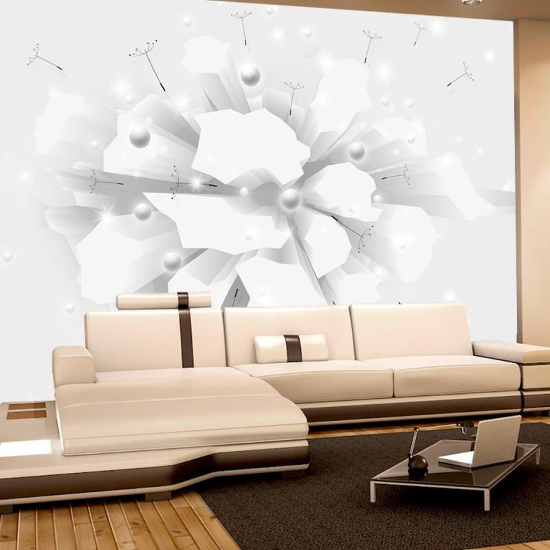 vlies fototapete no 3148 vliestapete liwwing r 3d tapete pusteblume steine 3d illustration wei. Black Bedroom Furniture Sets. Home Design Ideas