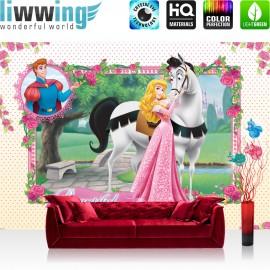 "Vlies Fototapete ""no. 893"" | Disney Tapete Princesses Kindertapete Cartoon Prinzessin Cinderella Märchen rosa | liwwing (R)"
