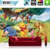 "Vlies Fototapete ""no. 922"" | Disney Tapete Winnie Puuh Kindertapete Cartoon Bär Tiger Esel Tigger Ferkel grün | liwwing (R)"