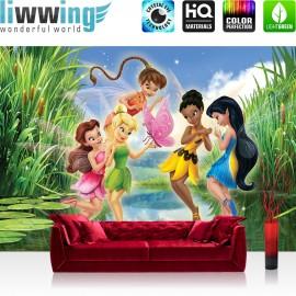 "Vlies Fototapete ""no. 936"" | Disney Tapete Fairies Die Feen Kindertapete Cartoon Märchen Wasser Schmetterling grün | liwwing (R)"
