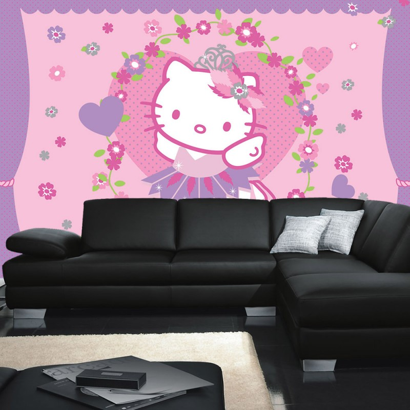vlies fototapete no 1020 m dchen tapete sanrio hello. Black Bedroom Furniture Sets. Home Design Ideas