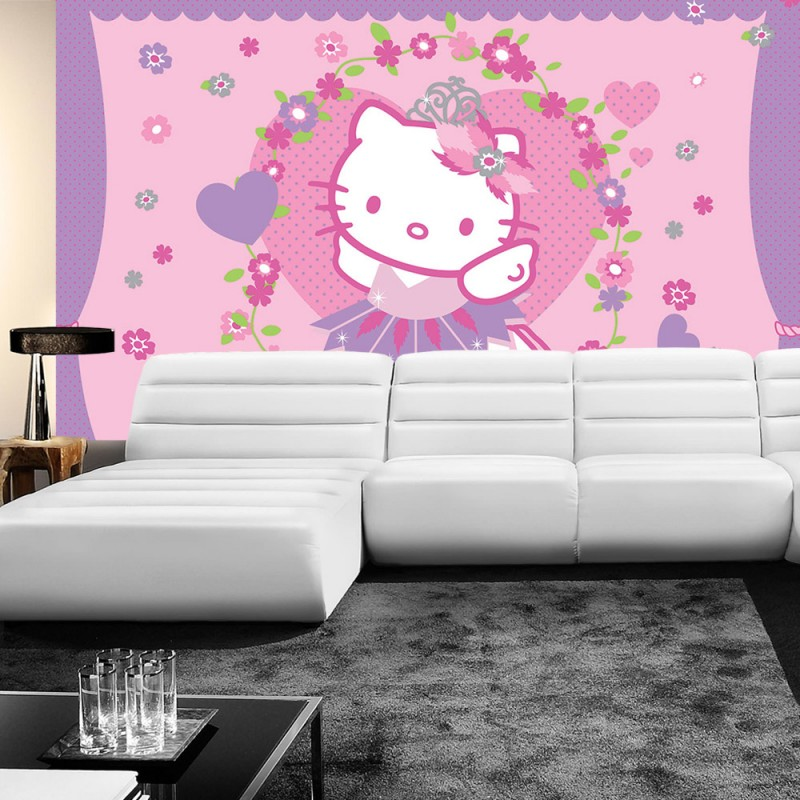 vlies fototapete no 1020 m dchen tapete sanrio hello kitty kindertapete cartoon katze. Black Bedroom Furniture Sets. Home Design Ideas