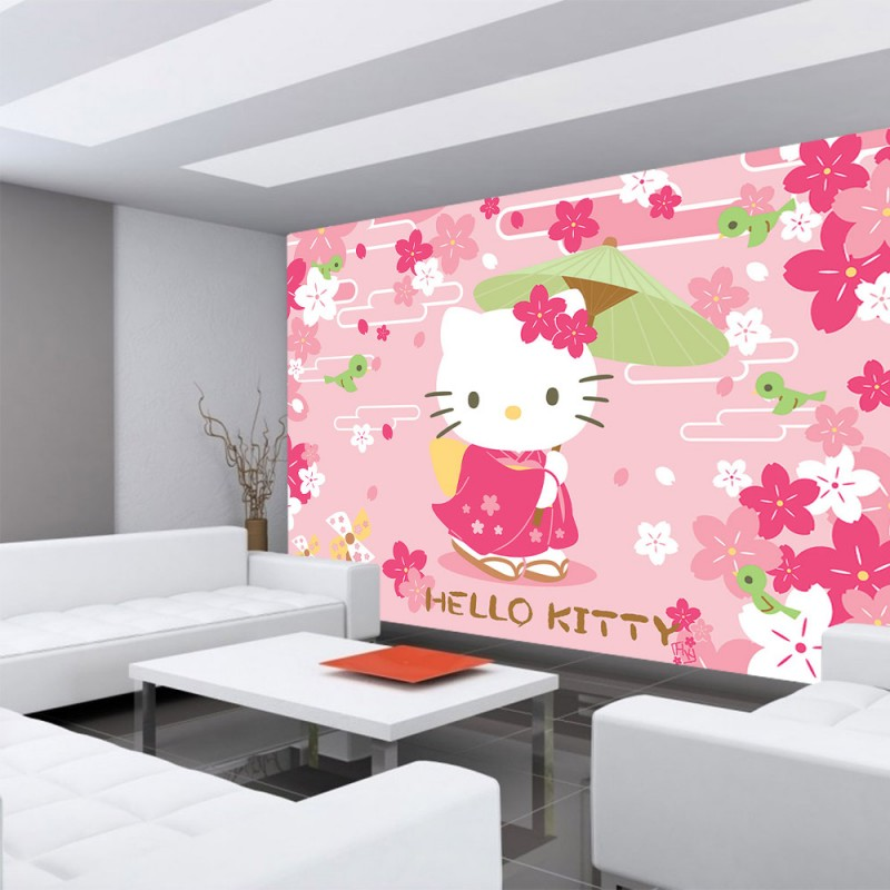 vlies fototapete no 1022 m dchen tapete hello kitty. Black Bedroom Furniture Sets. Home Design Ideas