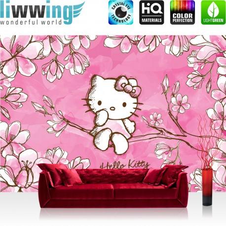 vlies fototapete no 1023 m dchen tapete sanrio hello kitty kindertapete cartoon katze. Black Bedroom Furniture Sets. Home Design Ideas
