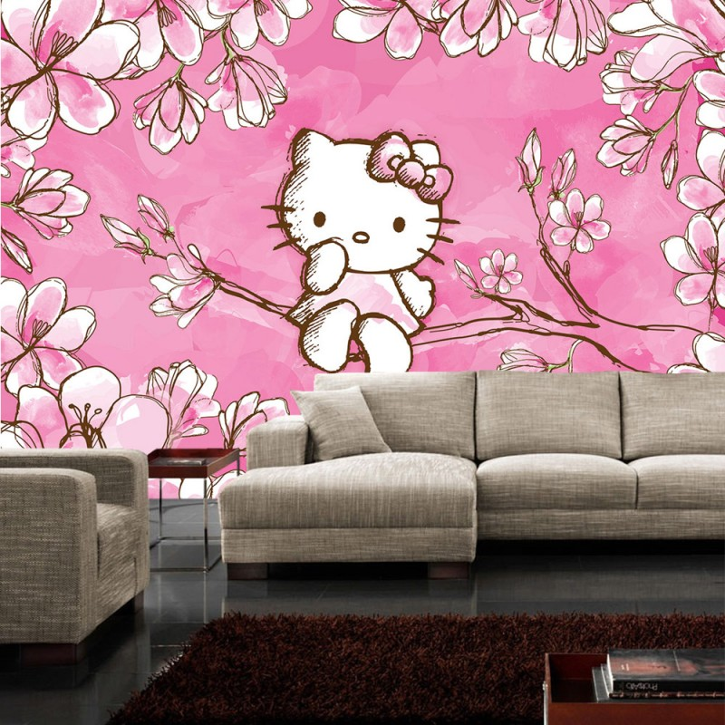 kinderzimmer tapete hello kitty bibkunstschuur. Black Bedroom Furniture Sets. Home Design Ideas