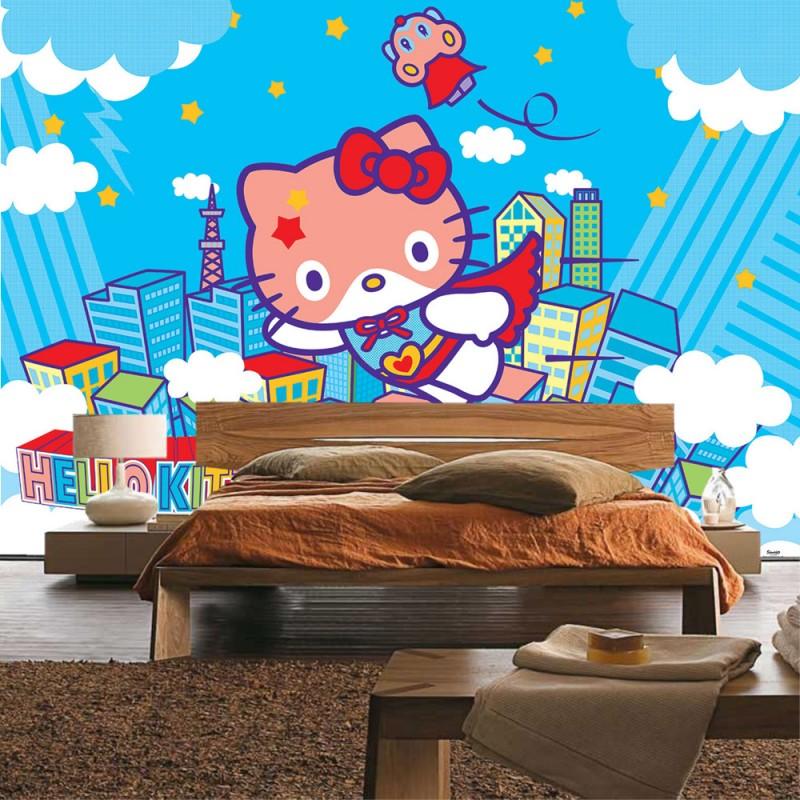 vlies fototapete no 1024 m dchen tapete sanrio hello. Black Bedroom Furniture Sets. Home Design Ideas