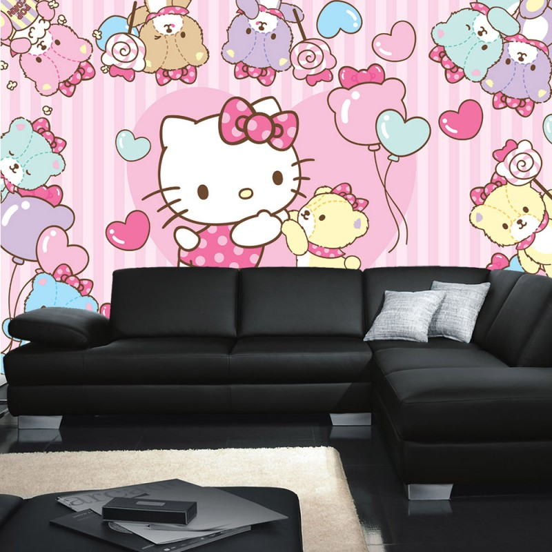 vlies fototapete no 1028 m dchen tapete hello kitty. Black Bedroom Furniture Sets. Home Design Ideas