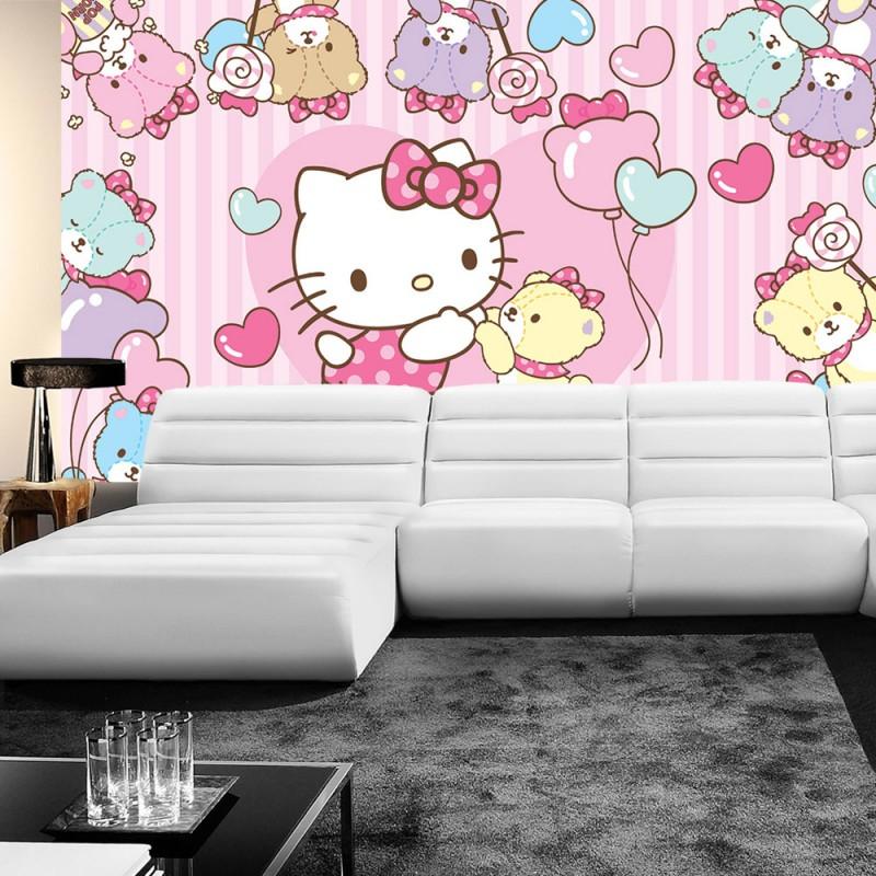 vlies fototapete no 1028 m dchen tapete hello kitty. Black Bedroom Furniture Sets. Home Design Ideas