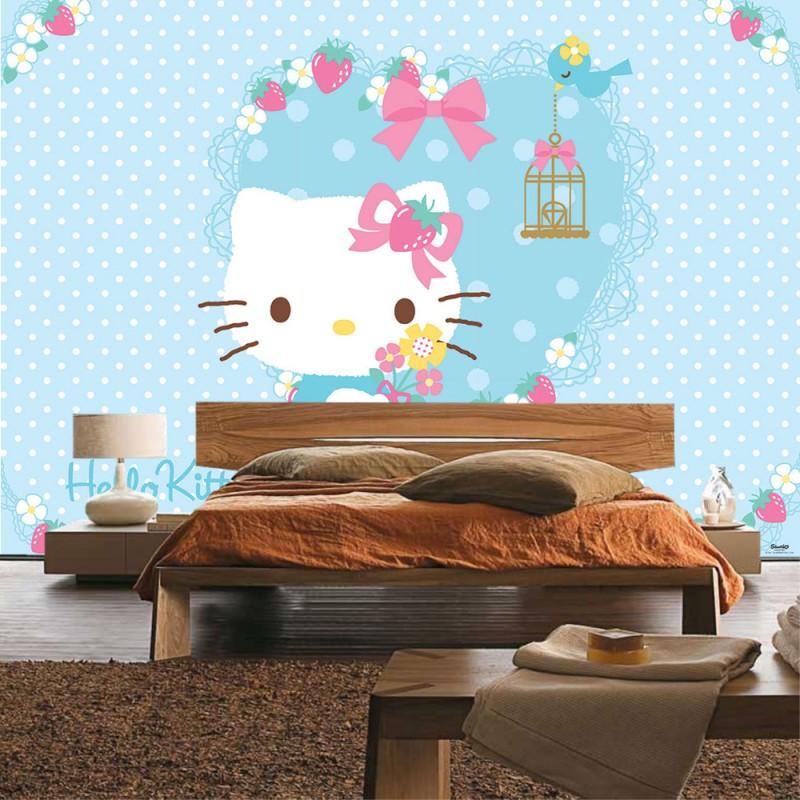 Vlies fototapete no 1029 m dchen tapete sanrio hello for Hello kitty schlafzimmer